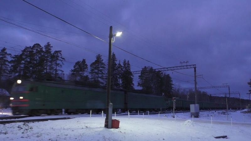 Грузовые поезда в Орехово ВЛ15 3ЭС4К и ДМ62