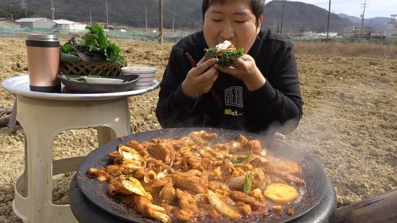 비주얼로 식욕 증가~ 가마솥 닭갈비 Spicy Grilled Chicken 요리 방 Mukbang eating show