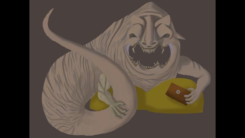 Рисуем босса Dark Souls II Алчный Демон с лоускилом стрим 5