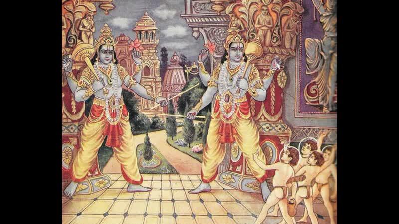 Джая и Виджая проклятые Кумарами Хираньякша завоевывает вселенную