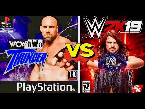 WCW nWo Thunder Finishers VS WWE 2K19 Finishers Comparison👏😍WHO IS THE BEST👏😍