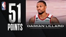 Damian Lillard Records His 5th 50 Point Game Of The Season!