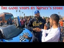 The Game turns heads at Nipsey Hussle L.A. memorial, joins diverse group of fans from across USA