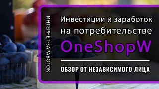 One Shop - инвестиции и заработок на потребительстве - Обзор от независимого лица