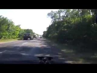 Колонна  Смерчей едет в Донецк/The coloumn of Tornado move to Donetsk