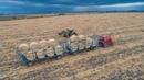 Bálahordás 2020 3x MTZ Claas Arion 540 Case IH CAT TH 62 Bale Transport