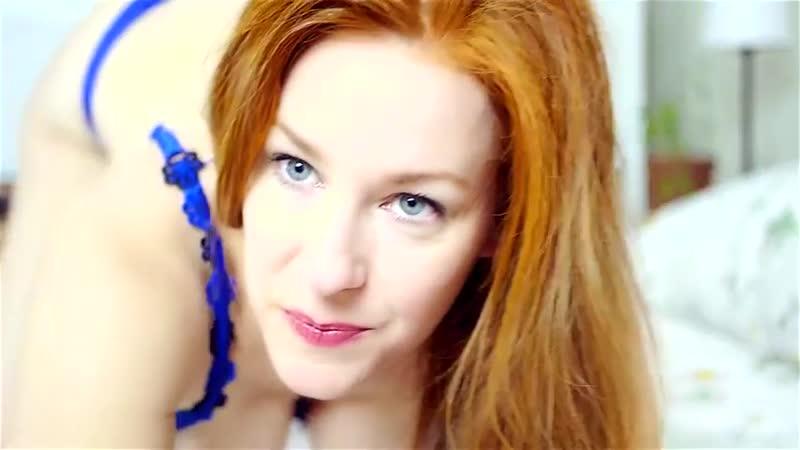 Redhead in Blue Lingerie Youtube Teaser