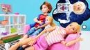 Barbie ailesi. Chelsea ve Ken film izlerken Barbie rüyasında uzaya gidiyor