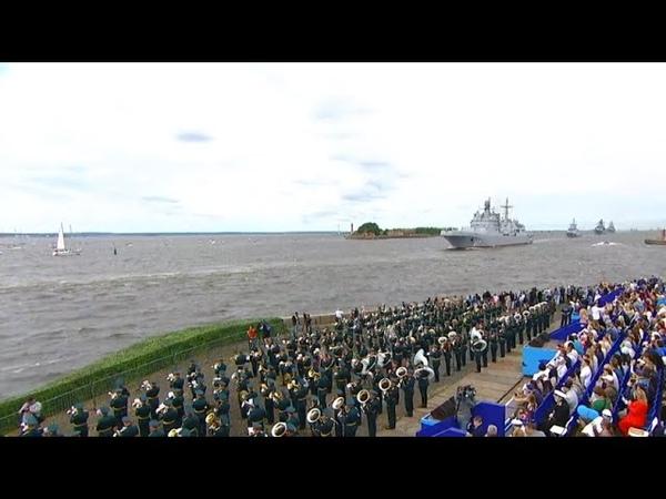 Лучшие моменты Главного военно морского парада в Петербурге