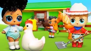Andiamo alla fattoria con le bambole LOL Surprise. Giochi per bambini. Video educativo in italiano