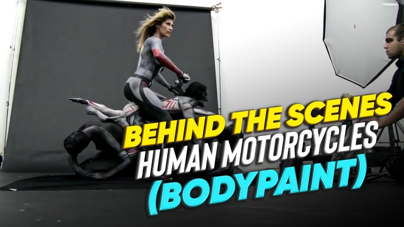 Behind The Scenes | Human Motorcycles (Bodypaint)