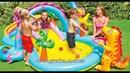 Море визга и удовольствия с игровым центром Intex 57135