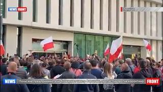 Польские предприниматели блокируют центр Варшавы, протестуя против карантина