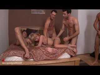 Sasha Rose  Привязана к кровати GangBangs  [BDSM, porno, Sex, kinky, hard, rough, бдсм, секс, порно, хард, жестко]