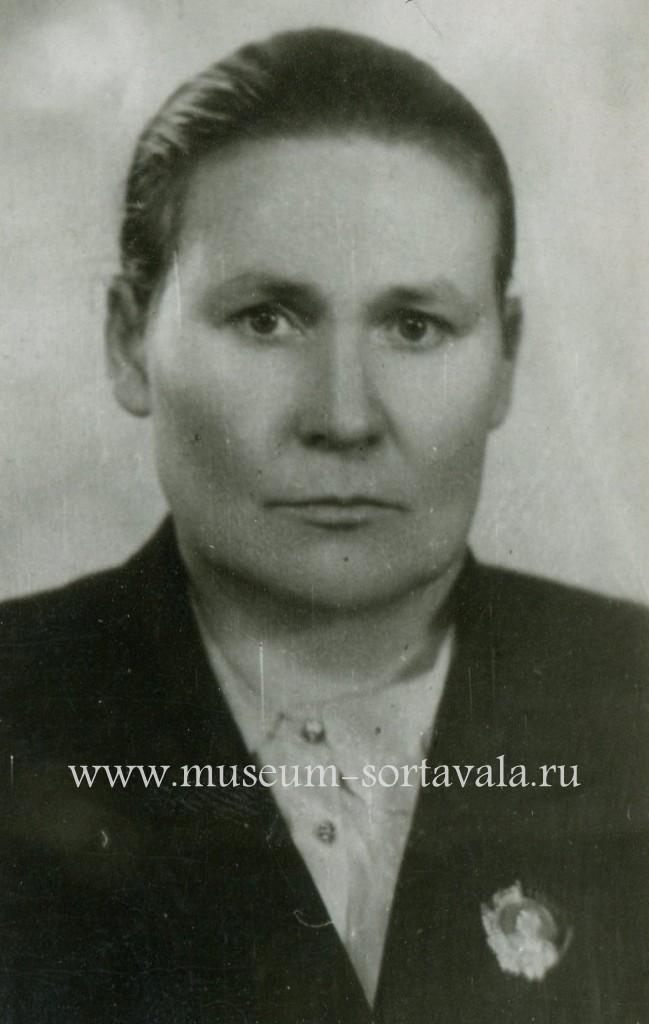 Кавалер ордена Ленина, ветеран труда А.П. Фомина. г. Сортавала, ок. 1965 г. Из фондов РМСП