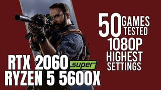 RTX 2060 Super + Ryzen 5 5600x | 50 games tested | highest settings 1080p benchmarks!