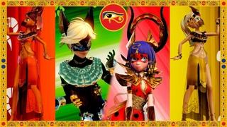 [Miraculous Ladybug] Egyptian transformations - Anubis , Bastet , Ra , Khepri