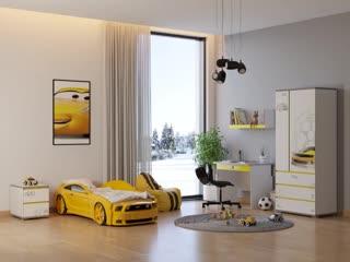 Детская комната в стиле bumble bee