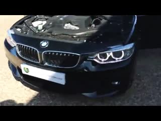Bmw 435i twin turbo auto convertible in black sapphire with red leather int