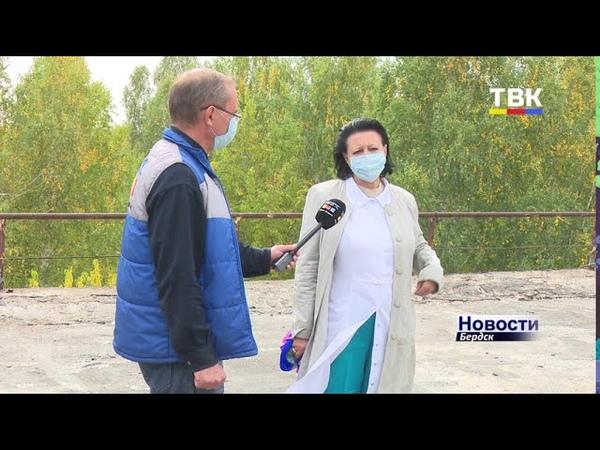 Больше капать на пациентов не будет Начался капитальный ремонт кровли больничных корпусов Бердска