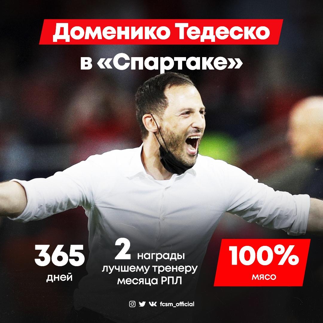 Большая удача для «Спартака». Год Тедеско в России