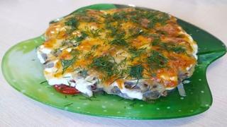 Самый лучший рецепт запечëнной курочки с сыром и грибами. #еда # рецепты #готовим #кушать #готовлю